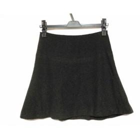 【中古】 アニエスベー agnes b ミニスカート サイズ38 M レディース ダークブラウン