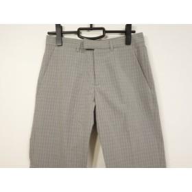 【中古】 アニエスベー agnes b パンツ サイズ36 S レディース グレー ライトグレー チェック柄