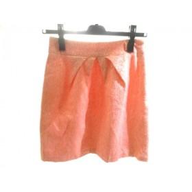 【中古】 ファビュラス Fabulous スカート サイズS レディース オレンジ ベージュ