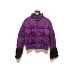 【中古】 レーシーラディアント racy radiant ダウンジャケット サイズLR レディース パープル 冬物