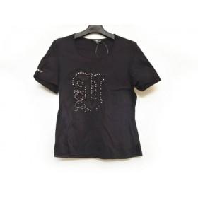 【中古】 バレンザスポーツ VALENZA SPORTS 半袖Tシャツ サイズ40 M レディース 黒 ラインストーン