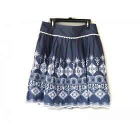 【中古】 チェスティ Chesty スカート サイズ1 S レディース 美品 ダークグレー 白