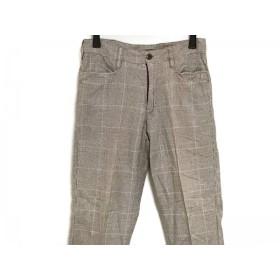 【中古】 チャオパニック CIAOPANIC パンツ サイズS メンズ ブラウン 白