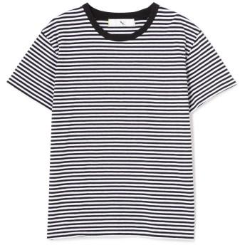 エヌ(エヌ ナチュラルビューティーベーシック) N. Natural Beauty Basic ベーシックTシャツ クルーネック ブラックxオフボーダー M【税込10,800円以上購入で送料無料】