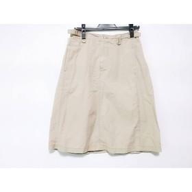 【中古】 マーガレットハウエル MHL. スカート サイズ1 S レディース ベージュ リボン