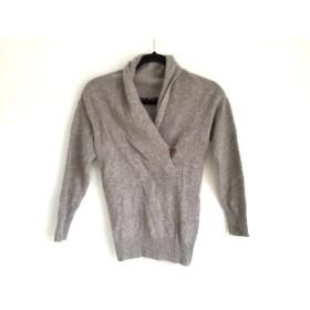 【中古】 マカフィ MACPHEE 長袖セーター サイズ1 S レディース ライトブラウン