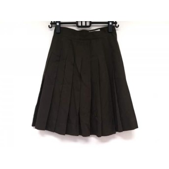 【中古】 バナナリパブリック BANANA REPUBLIC スカート サイズ8 M レディース ダークブラウン