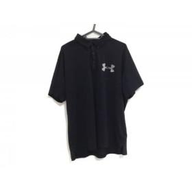 【中古】 アンダーアーマー UNDER ARMOUR 半袖ポロシャツ サイズXL メンズ 黒