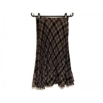【中古】 ジユウク ロングスカート サイズ36 S レディース ダークブラウン ライトブラウン レッド