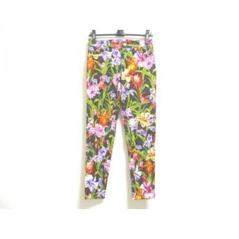 【中古】 ピンキー&ダイアン Pinky & Dianne パンツ サイズ38 M レディース 黒 グリーン マルチ 花柄