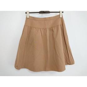 【中古】 ジャスグリッティー JUSGLITTY ミニスカート サイズ2 M レディース 美品 ブラウン