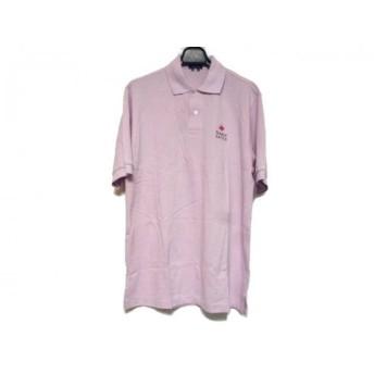 【中古】 パーリーゲイツ PEARLY GATES 半袖ポロシャツ サイズM メンズ ピンク レッド ダークネイビー