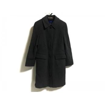 【中古】 バーバリーブルーレーベル コート サイズ38 M レディース ダークグレー 冬物