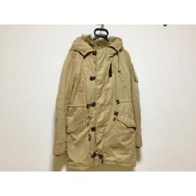 【中古】 マウジー moussy コート サイズ2 M レディース ベージュ 冬物 ポリエステルコットンナイロン