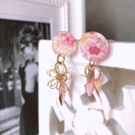お花の宝石 ピアス 【春】