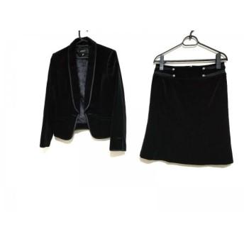 【中古】 ボッシュ BOSCH スカートスーツ サイズ38 M レディース 黒 ベロア