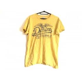 【中古】 ラルフローレンデニム&サプライ 半袖Tシャツ サイズS メンズ マスタード ネイビー