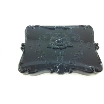 【中古】 アナスイ ANNA SUI 小物 黒 オイルコントロールペーパー&ミラー プラスチック ガラス