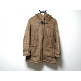 【中古】 ジャーナルスタンダード コート サイズ38 M レディース ブラウン 冬物/relume/フェイクムートン