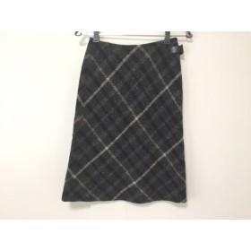 【中古】 ダックス DAKS スカート サイズ38 L レディース ダークグレー ライトグレー 黒 チェック柄
