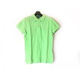 【中古】 ラルフローレン RalphLauren 半袖ポロシャツ サイズM レディース ライトグリーン