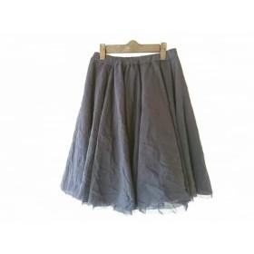 【中古】 エムプルミエ M-PREMIER スカート サイズ34 S レディース ダークネイビー チュール