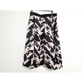 【中古】 ピンキー&ダイアン Pinky & Dianne スカート サイズ38 M レディース ペールオレンジ 黒