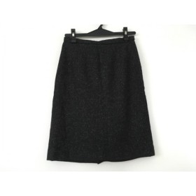 【中古】 ジャスグリッティー JUSGLITTY スカート サイズ1 S レディース ダークグレー 黒 白 フリル