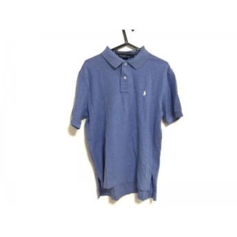 【中古】 ポロラルフローレン POLObyRalphLauren 半袖ポロシャツ サイズL メンズ ブルー