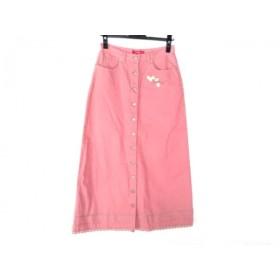 【中古】 ピンクハウス PINK HOUSE スカート サイズL レディース ピンク