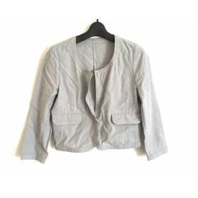 【中古】 レステラ LESTERA ジャケット サイズ38 M レディース ダークグレー 白 ストライプ