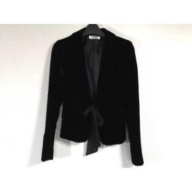 【中古】 モルガン MORGAN DE TOI ジャケット サイズ36 S レディース 黒 ベロア