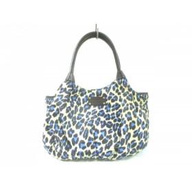 【中古】 ケイトスペード ハンドバッグ 美品 PXRU1696 アイボリー ダークブラウン マルチ 豹柄
