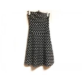 【中古】 トッカ TOCCA スカート サイズ4 S レディース 黒 白 花柄/刺繍