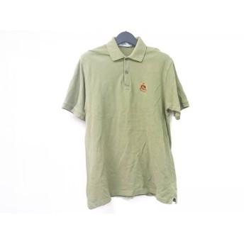 【中古】 バーバリーズ Burberry's 半袖ポロシャツ サイズL メンズ ライトグリーン