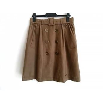 【中古】 ブルーレーベルクレストブリッジ スカート サイズ38 M レディース 美品 ダークブラウン