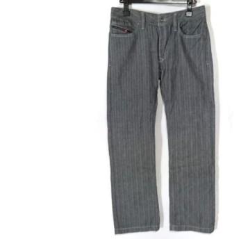 【中古】 ディーゼル DIESEL パンツ サイズ30 メンズ グレー 黒