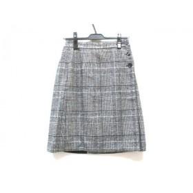 【中古】 プロフィール PROFILE 巻きスカート サイズ38 M レディース ブラック ホワイト