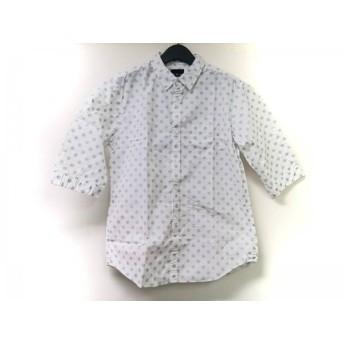 【中古】 ザ ショップ ティーケー 半袖シャツ サイズXL メンズ 白 ライトグレー ドット柄