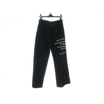 【中古】 バジュラ bajra パンツ サイズM M レディース 黒 ダークグレー 白 ストライプ