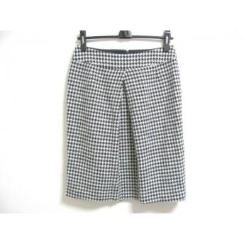 【中古】 アマカ AMACA スカート サイズ40 M レディース 黒 白 千鳥格子