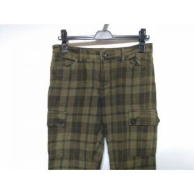 【中古】 ジーンナッソーズ JEAN NASSAUS パンツ サイズ3 L レディース ダークグリーン 黒