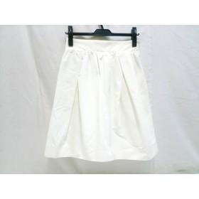 【中古】 バーニーズ BARNEYSNEWYORK スカート サイズ38 M レディース ホワイト