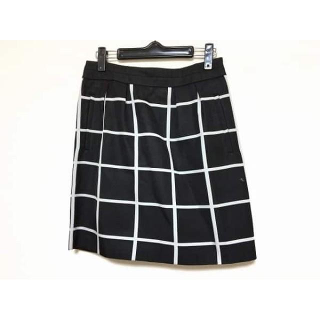 【中古】 ボディドレッシングデラックス スカート サイズ38 M レディース 黒 白 チェック柄