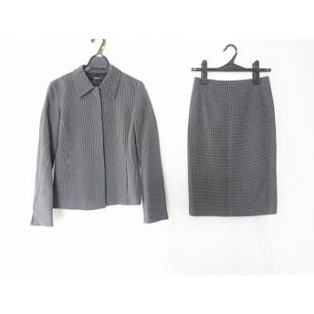 【中古】 インタープラネット INTER PLANET スカートスーツ サイズ38 M レディース 黒 白 ドット柄