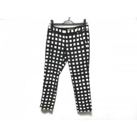 【中古】 アプワイザーリッシェ Apuweiser-riche パンツ サイズ2 M レディース 美品 白 黒 チェック柄
