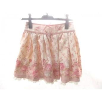 【中古】 リズリサ LIZLISA ミニスカート サイズ0 XS レディース ピンク マルチ