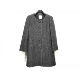 【中古】 ボンメルスリー Bon mercerie コート サイズ38 M レディース グレー 冬物