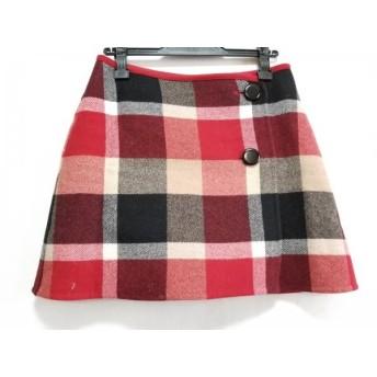 【中古】 ブルーレーベルクレストブリッジ 巻きスカート サイズ36 S レディース 美品 チェック柄