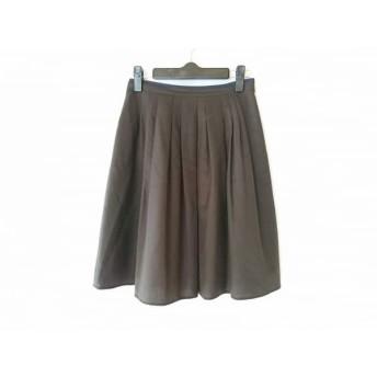 【中古】 ノーリーズ NOLLEY'S スカート サイズ34 S レディース カーキ